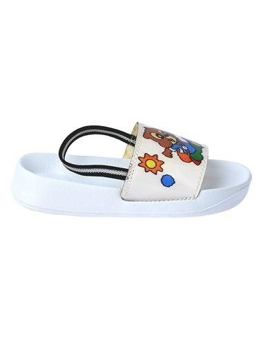Kiko Kids Kiko Akn E405.084 Plaj Havuz Kız Çocuk Sandalet Terlik Beyaz